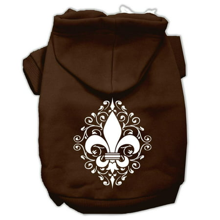 Henna Fleur de Lis Screen Print Pet Hoodies Brown Size XXL (18) A poly/cotton sleeved hoodie for cold weather days, double stitched in all the right places for comfort and durability!Product Summary : Pet Apparel/Dog Hoodies/Screen Print Hoodies/Henna Fleur De Lis Screen Print Pet Hoodies@Pet Apparel/Dog Hoodies/Screen Print Hoodies COPY/Henna Fleur De Lis Screen Print Pet Hoodies