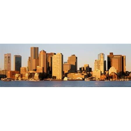 Image of Sunrise Skyline Boston Massachusetts USA Canvas Art - Panoramic Images (36 x 12)