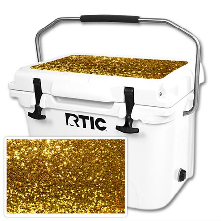 MightySkins Protective Vinyl Skin Decal for RTIC 20 Cooler Lid (2016) wrap cover sticker skins Gold Glitter