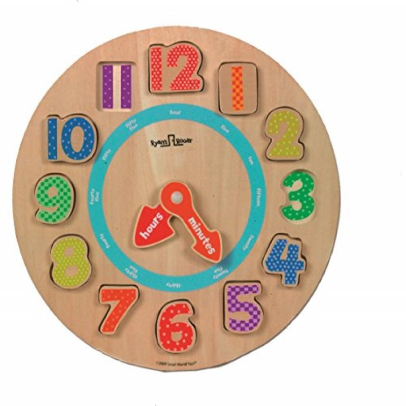 Small World Toys Ryan's Room Wood Puzzle Tick Tock Clock by