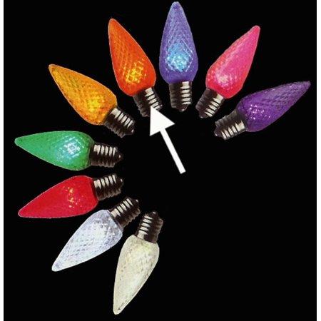 pack of 25 led c9 orange replacement christmas light bulbs. Black Bedroom Furniture Sets. Home Design Ideas