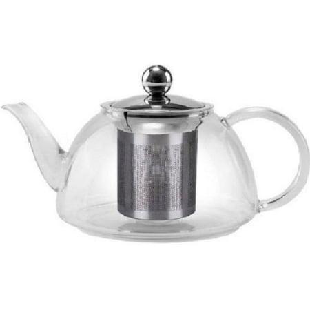 PREMIUM Heat resistant STOVE TOP SAFE Glass Kettle Tea Pot TEAPOTS 800ml