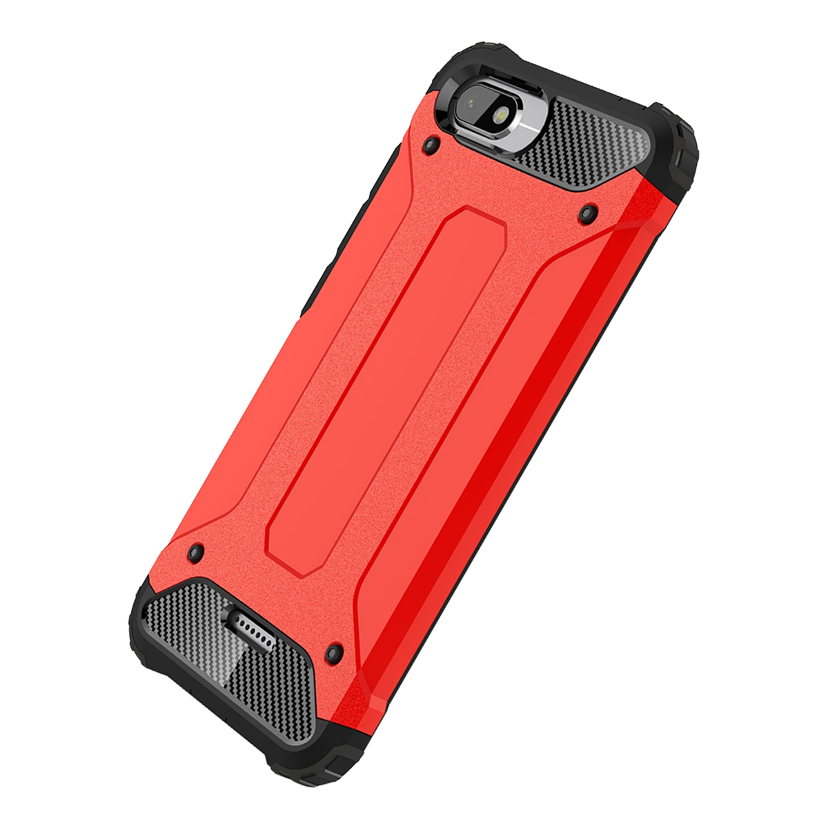 Xiaomi Redmi 6A Case, Mooncase Hybrid Armor Case Soft Silicone & Hard Plastic Defender Shockproof Protective Cover Shell for Xiaomi Redmi 6A Red - Walmart. ...
