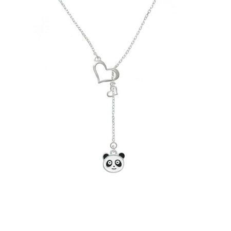 Enamel Panda Face - In My Heart Lariat -