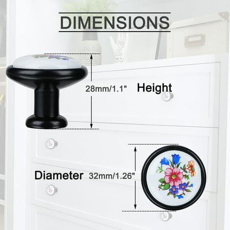 Ceramic European Modern Knobs Handle Cupboard Wardrobe Kitchen Cabinet 8pcs #2 - image 5 of 7