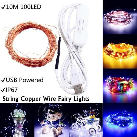 Td5 Lights (100 LED Night Light USB 5V Fairy String Copper Wire Fairy Light Party Decor Waterproof)