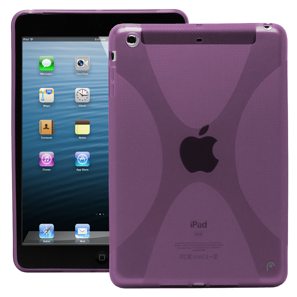 Fosmon DURA Series Protective Skin Case for Apple iPad Mini / iPad Mini 2 with Retina Display (2013) / iPad Mini 3 (2014) Tablet (X SERIES (PURPLE))