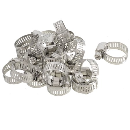 20 Pcs Bolt Release 13mm to 19mm Worm Drive Hose Clamps Pipe Hoops - image 1 of 1