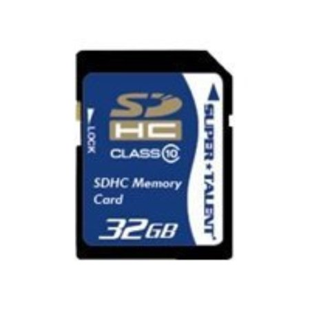 Super Talent 32GB Secure Digital High Capacity SDHC Card (Class 10), Model SDHC32-C10 Super Talent Sd Card