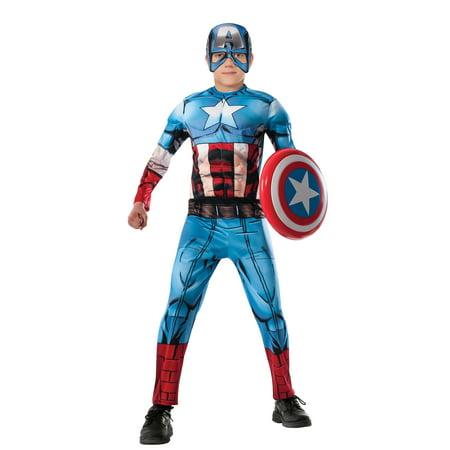 Captain America Muscle Marvel Avengers Assemble Boys Costume R620021 - Small (4-6) (Costumes Marvel)