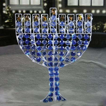 24 Quot Led Lighted Menorah Hanukkah Yard Art Decoration