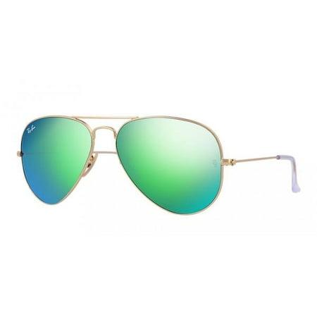 76f9757869 Ray-Ban - Ray-Ban Aviator Green Flash Sunglasses - RB3025-112 19-62 -  Walmart.com