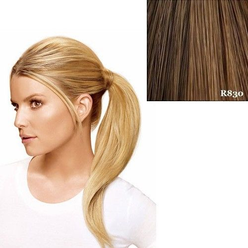 """Hairdo 18"""" Wrap Around Pony by Jessica Simpson Ken Paves Extensions R830 (Ginger Brown)"""
