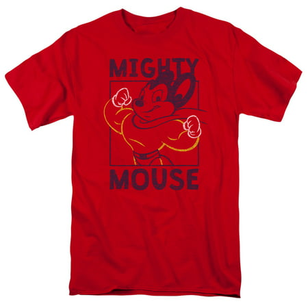 MIGHY MOUSE/BREAK THE BOX-S/S ADULT 18/1 - RED - 4X