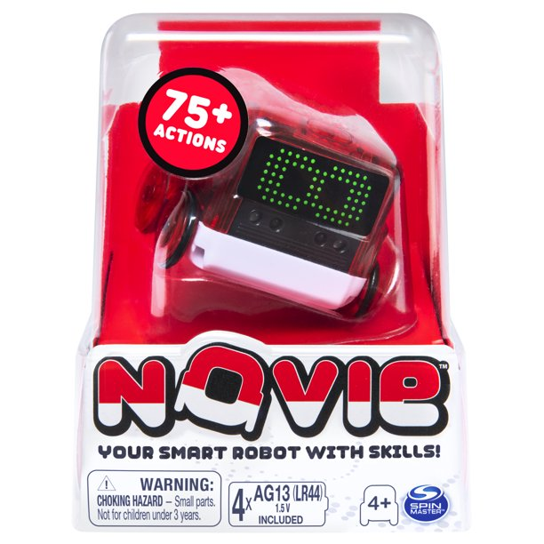 Novie, Interactive Smart Robot with Over 75 Actions and Learns 12 Tricks (Red), for Kids Aged 4 and Up - Walmart.com - Walmart.com