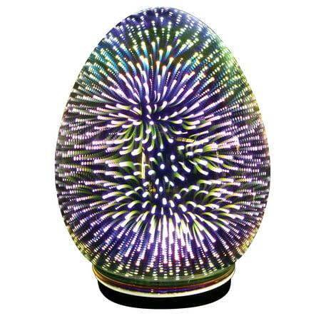 Oval Egg Accent Light - Mercury Glass Starburst LED Table Lamp