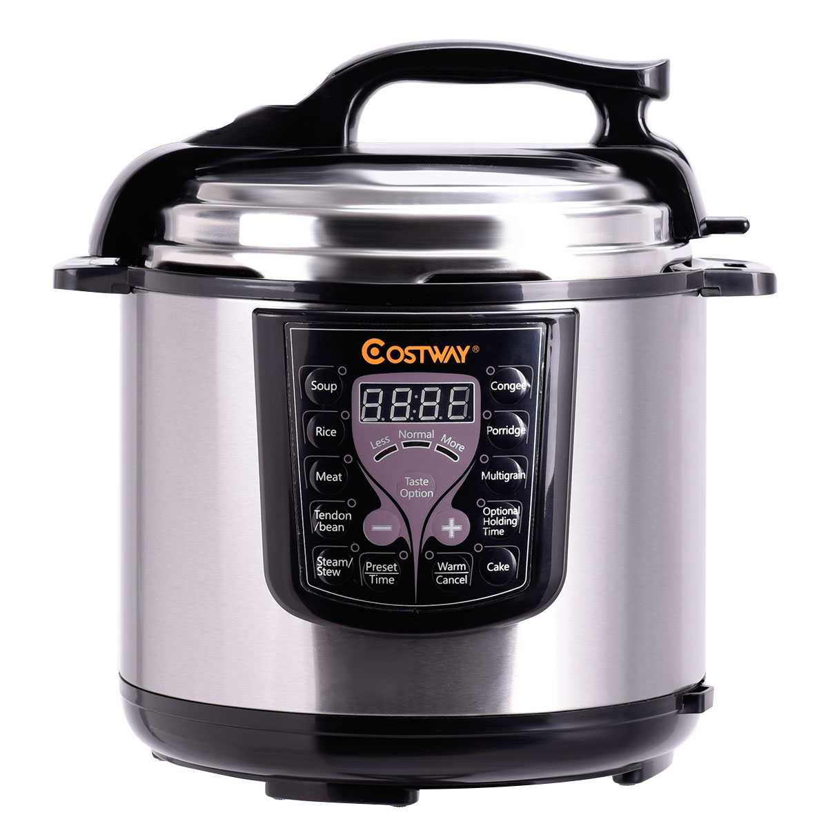 Costway 6-Quart Electric Pressure Cooker 1000 Watt Stainless Steel Kitchen
