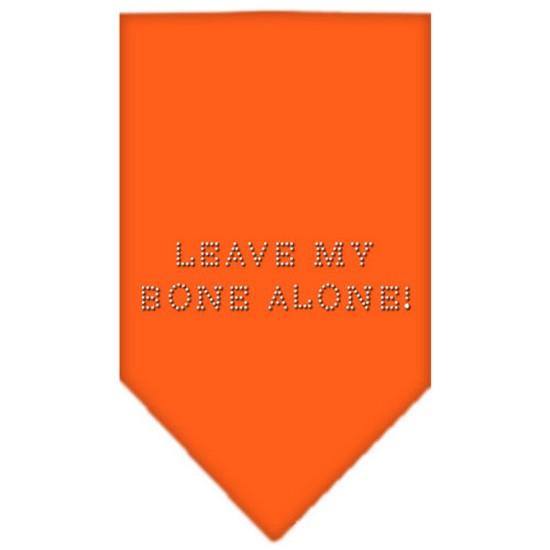 Mirage 67-43 LGOR Leave My Bone Alone! Rhinestone Pet Bandana Orange Large