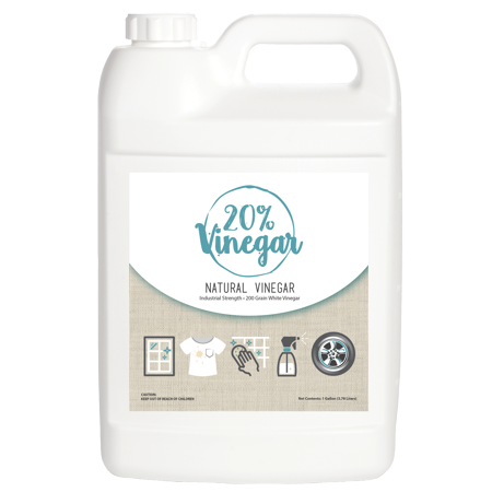 20% Vinegar Concentrate - 200 Grain White Vinegar - 1 Gallon of Natural and Safe Multi-Use Concentrated Industrial Vinegar ()