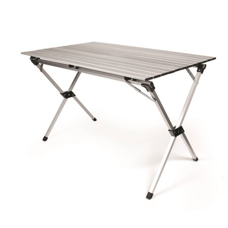 Camco Aluminum Roll-Up Campsite Table with Carrying Bag - Ideal for Tailgating, Camping, The Beach, Parties and More, Lightweight Design, Durable and Rust Resistant (51892)