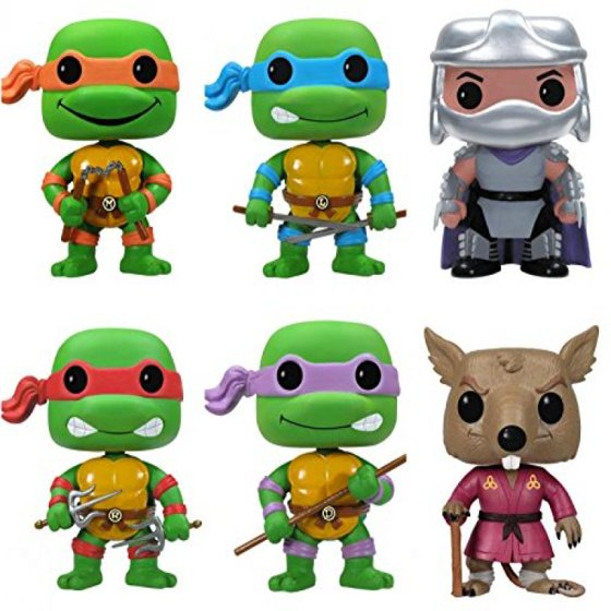 418437f8467 Teenage Mutant Ninja Turtles Funko POP TMNT Pop Vinyl Figure Toy Cartoon  Collectible Set of 6  Leonardo-Michelangelo-Raphael-Donatello -Splinter-Shredder