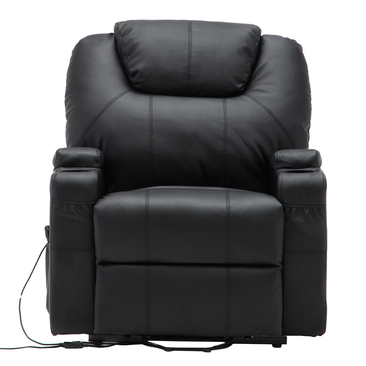Goplus PU Leather Heated Massage Sofa Lounge Electric Lift Power Recliner  Chair W/ Remote Control