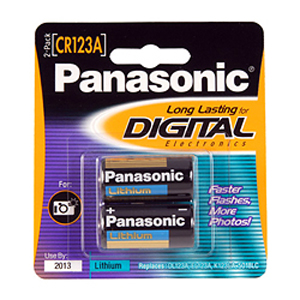 Panasonic CR123A Photo Lithium Battery Pack - 3V DC