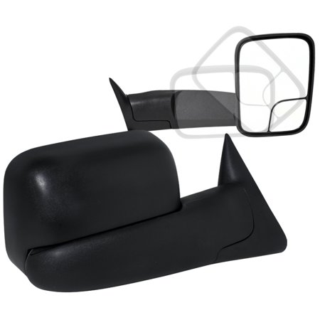 Spec-D Tuning 1998-2001 Dodge Ram 1500 Power Heat Towing Fold Out Mirrors 98-2002 Ram 2500 3500 1998 1999 2000 2001 (Left + Right) (Ram Heat Spreader)