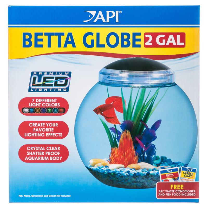 API Betta Globe Fish Bowl with LED Lighting