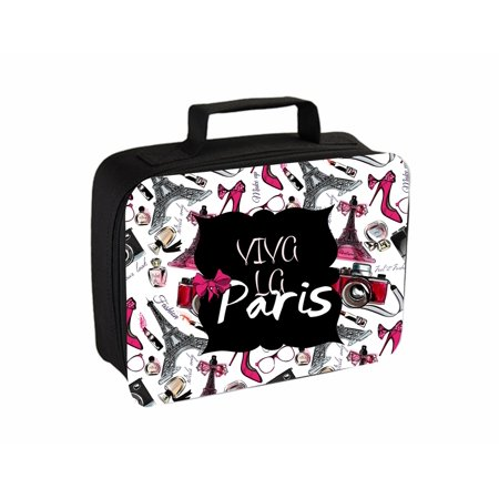 Halloween La Villa Paris (Viva La Paris Small Travel Toiletry / Cosmetic Case with 3 Compartments and Detachable)