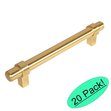 (Cosmas 161-4BB Brushed Brass Contemporary Bar Cabinet Handle Pull - 4