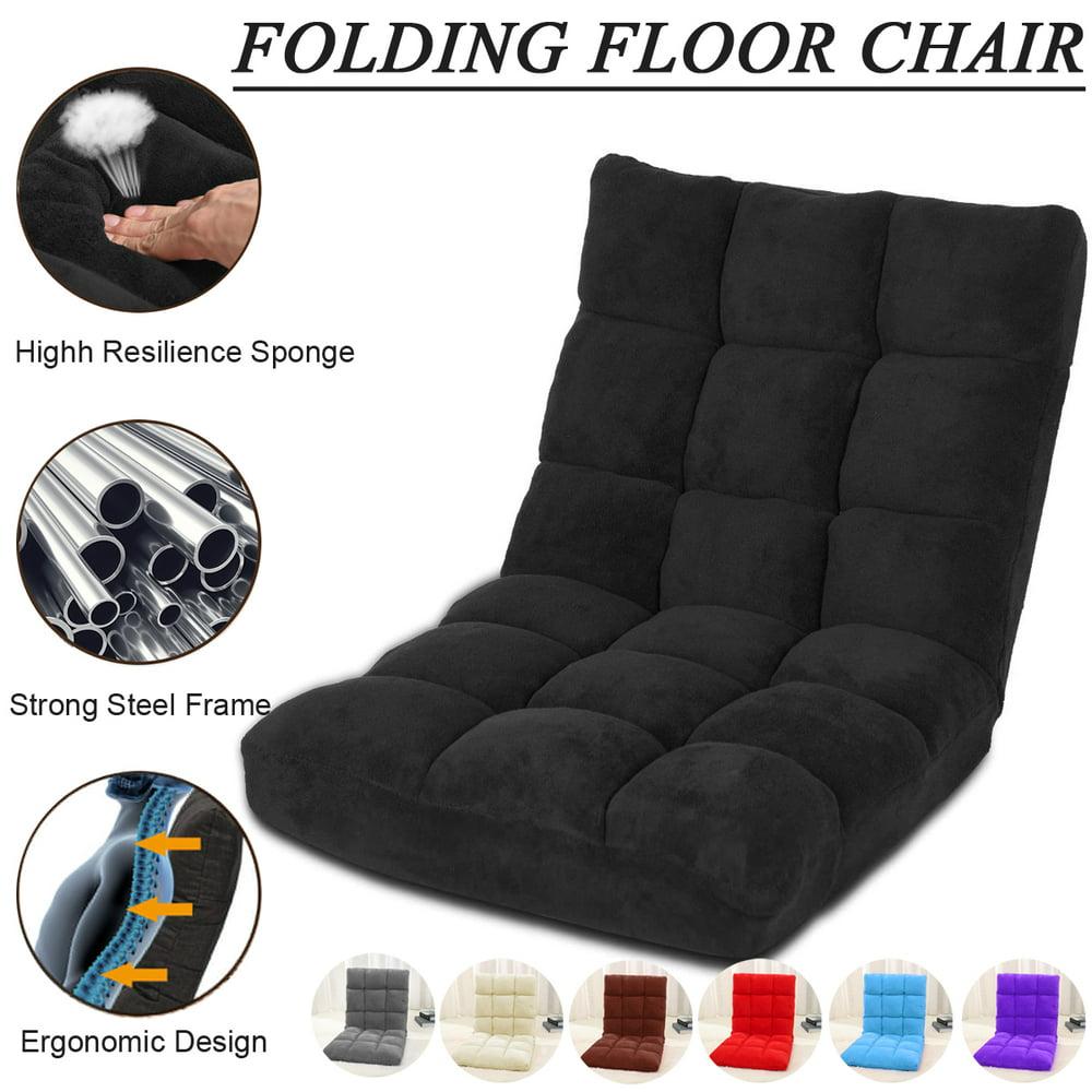 6 Position Memory Foam Folding Adjustable Gaming Floor ...