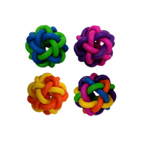 Multipet Nobbly Wobbly™ Ball with Bell Dog Toy 4