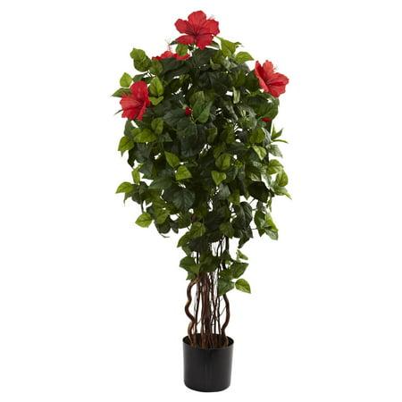 Nearly Natural 4 Hibiscus Tree Walmartcom