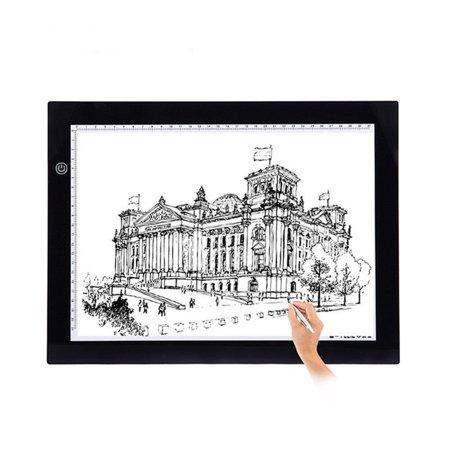 Ultra-Thin Portable LED Tracing Light Box Artist Stencil Board Drawing Table Display Pad (A3)