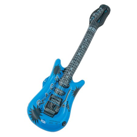 Small Guitar (Fun Express - Small Inflate Guitar Blue 1pc - Toys - Inflates - Inflatable Characters - 1)