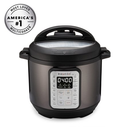 Instant Pot VIVA Black Stainless 6-Quart 9-in-1 Multi-Use Programmable Pressure Cooker, Slow Cooker, Rice Cooker, Yogurt Maker, Cake Maker, Egg Cooker, Sauté, with Sous Vide and Sterilizer
