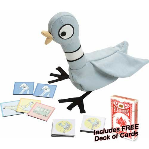 The Pigeon Wants A Match Game w Free Deck of Standard Playing Cards, Contains 54 tiles By University Games by