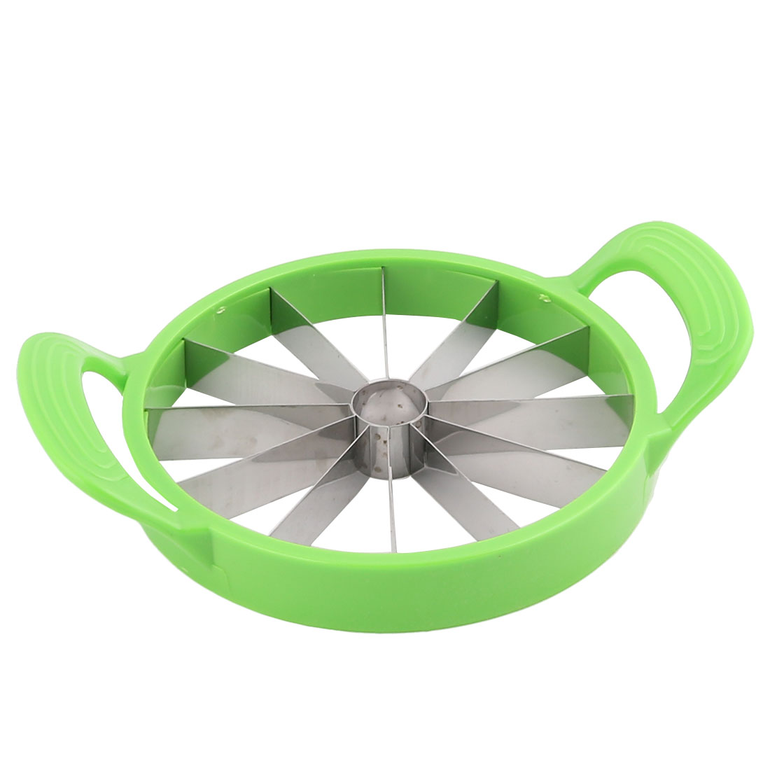 Unique Bargains Household Plastic Frame Round Shaped Handhold Watermelon Hamimelon Slicer Cutter