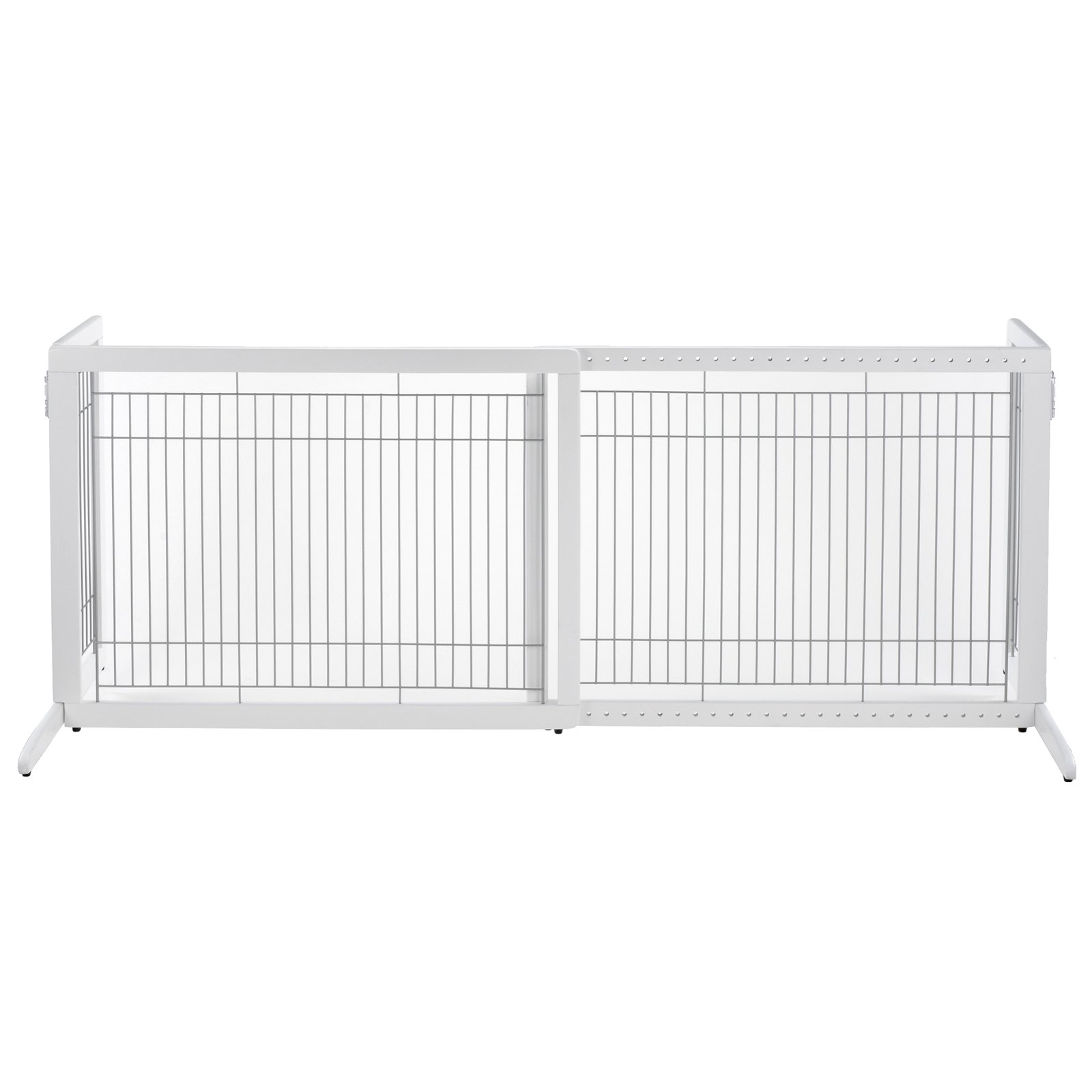 Richell Freestanding HL Pet Gate, Origami White