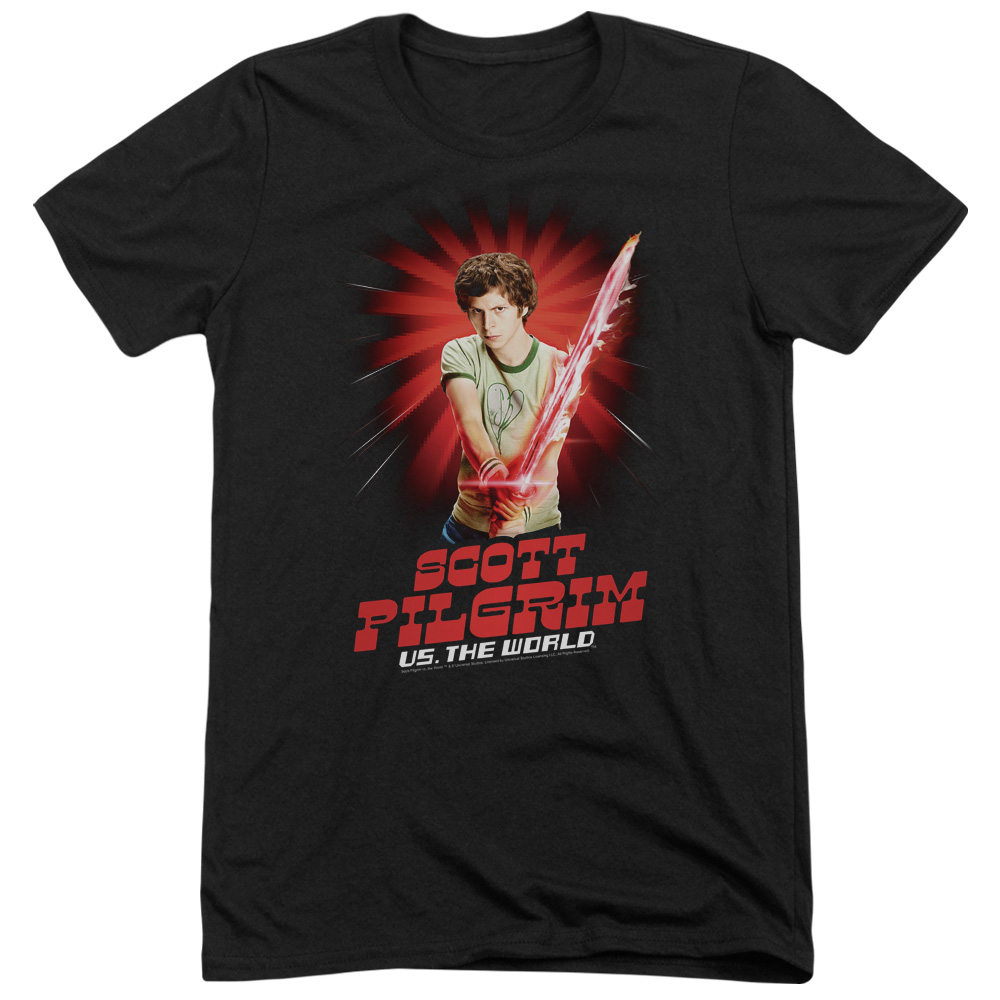 Scott Pilgrim Super Sword Mens Tri-Blend Short Sleeve Shirt