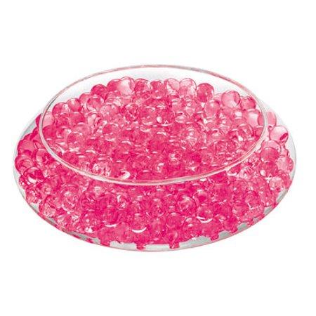 Deco Beads  Raspberry  New Custom Colors 8 Ounce Jar Makes 6 Gallons Of Gel Beads Vase Filler