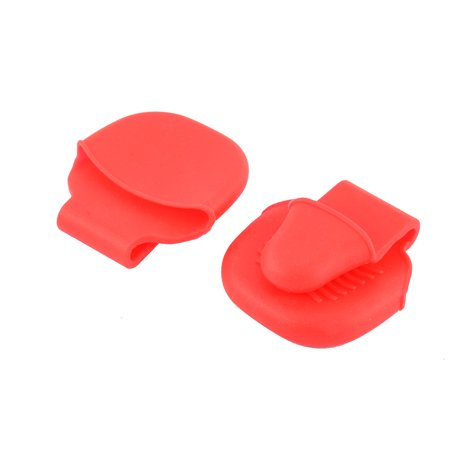 Silicone Baking Heat Resistant Insulated Glove Pot Dish Clip Red 2 Pcs