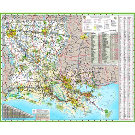 48x58 Louisiana State Official Executive Laminated Wall Map ...