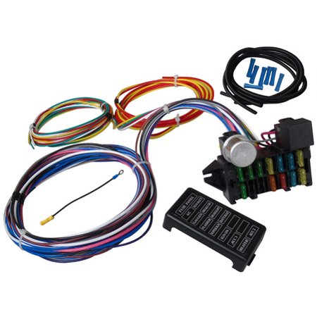 12 Circuit Universal Wire Harness Muscle Car Hot Rod Street Rod XL on 12 pin voltage regulator, toyota stereo wiring harness, 12 pin power supply,