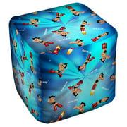 Astro Boy Pattern Cube(Ottoman) White 18X18X18