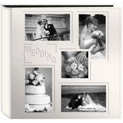 "Sewn Embossed Collage Frame 5-Up Photo Album 12""X12"" -Wedding"