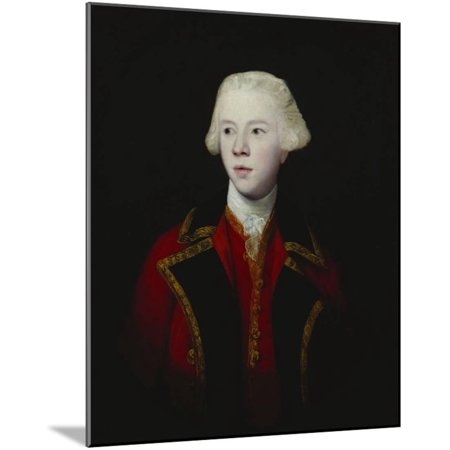 Portrait of George Augustus, 3rd Viscount Howe, Half-Length, Wearing the Uniform of the 1st Guard Wood Mounted Print Wall Art By Sir Joshua Reynolds (Mountie Uniform)