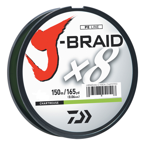 J-BRAIDX8 Braided Fishing Line by Daiwa
