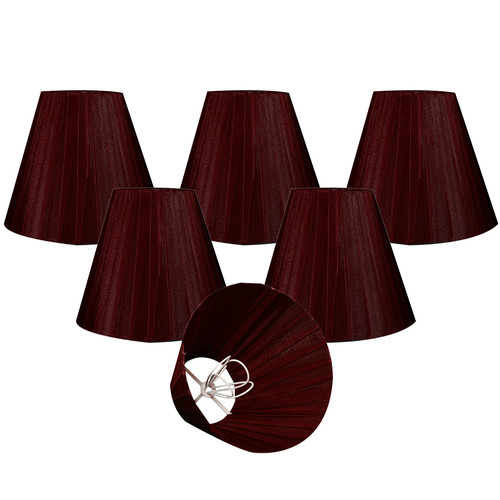Alcott Hill Organza 6'' Silk Empire Lamp Shade (Set of 6)